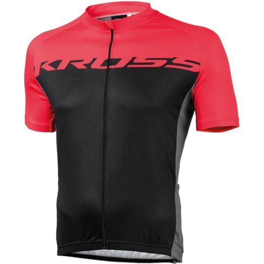 Koszulka Flow S-XXL czerwono-czarna