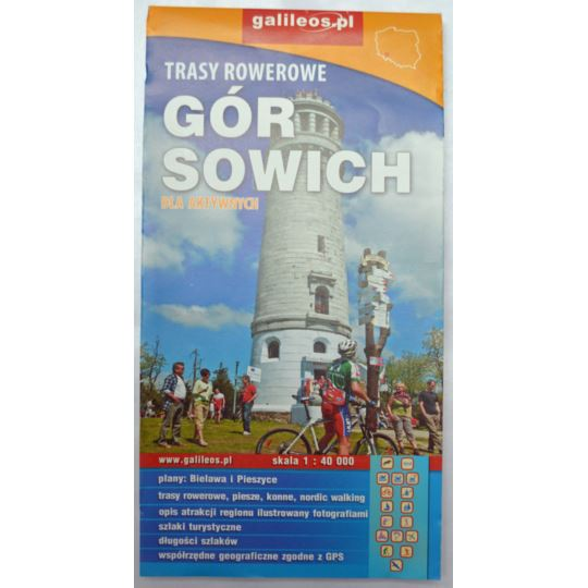 Mapa trasy rowerowe Gór Sowich