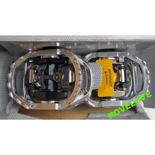 Pedały SPD PD-M545 srebrne bloki
