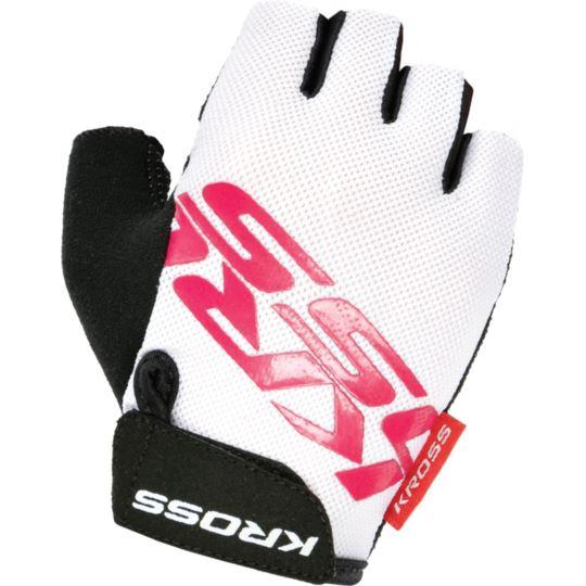 Rękawiczki Flow Lady SF krótkie białe/róż SX-L