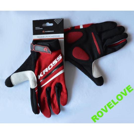 Rękawiczki rower. długie palce Race KRP-3-2011 S