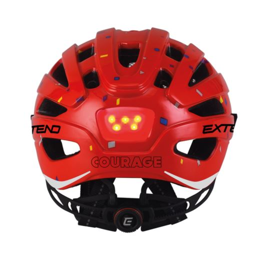 Kask EXTEND Courage red S/M (51-55cm)