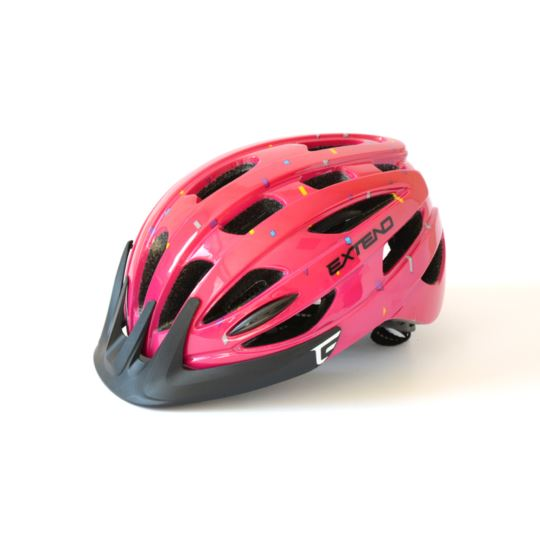 Kask EXTEND Courage confetti pink S/M (51-55cm)