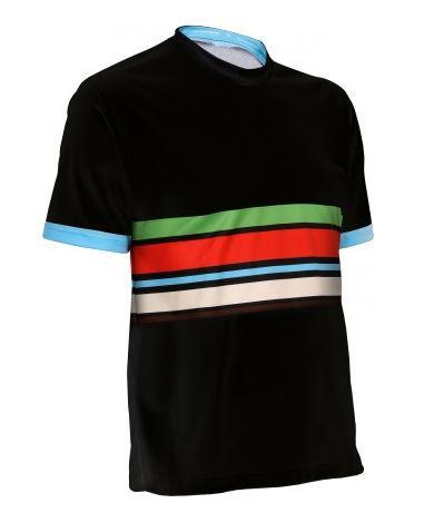 T-shirt row-sport męska czarna City XL