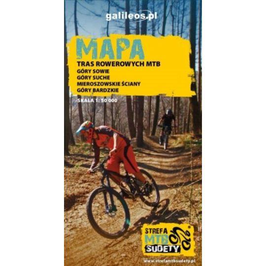 Mapa tras rowerowych - MTB Sudety