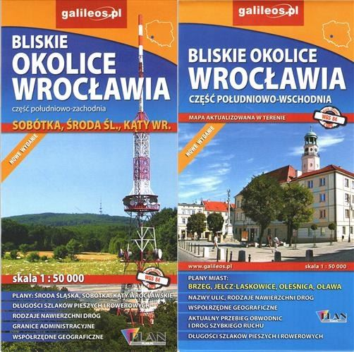 Mapa Okolice Wrocławia - komplet